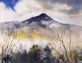 Valley Fog by Midge Black (Watercolor Painting)