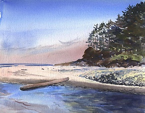Cummins Creek by Midge Black (Watercolor Painting)