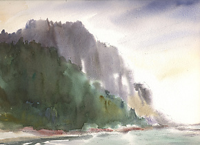 Cape Perpetua by Midge Black (Watercolor Painting)