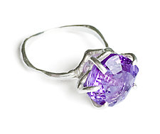 Geo Set Amethyst Ring by Aimee Petkus (Silver & Stone Ring)