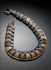 Tri-Tone Round Collar by Erica Zap (Metal Necklace)