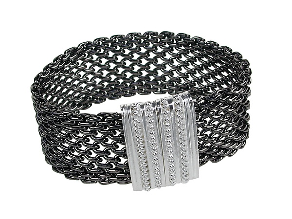 Open Weave Mesh Bracelet with Magnetic Clasp