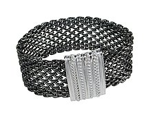 Open Weave Mesh Bracelet with Magnetic Clasp by Erica Zap (Brass Bracelet)