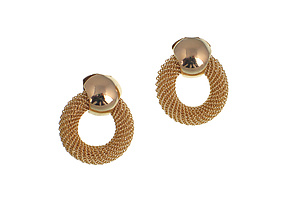 Circle Mesh Earrings by Erica Zap (Metal Earrings)