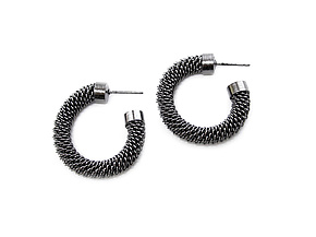 Mesh Hoop Earrings by Erica Zap (Metal Earrings)