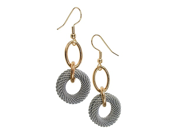 Mesh Circle Drop Earrings