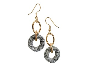 Mesh Circle Drop Earrings by Erica Zap (Metal Earrings)