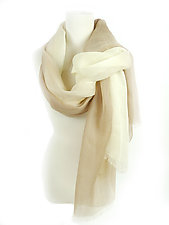 Linen Gradation Scarf by Yuh Okano  (Linen Scarf)