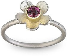 Flower Ring  5 by Jamie Cassavoy (Gold, Silver, & Stone Ring)