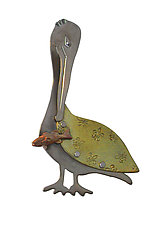 Large Pelican Pin by Thomas Mann (Metal Pin)