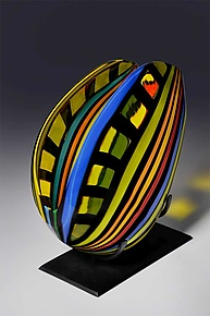 Fissure by Helen Rudy  (Art Glass Sculpture)