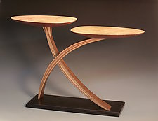 Split Leaf Table by Derek Secor Davis (Wood Console Table)