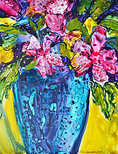 Blue Vase by Filomena Booth (Acrylic Painting)
