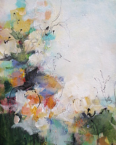Floral 1 by Karen  Hale (Acrylic Painting)