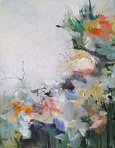Floral 2 by Karen  Hale (Acrylic Painting)