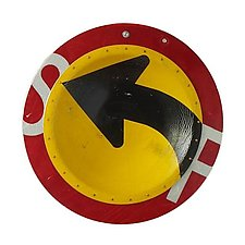 Left Turn D.P.W. Platter by Boris Bally (Metal Wall Sculpture)