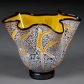 Soaring Saffron Bowl by Eric Bladholm (Art Glass Bowl)
