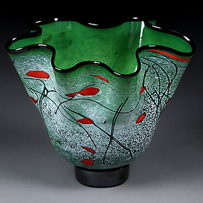 Emerald Express by Eric Bladholm (Art Glass Bowl)