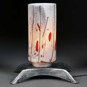 Zima Svjetlo (Winter Light) by Eric Bladholm (Art Glass Table Lamp)