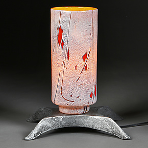Zoloty Svet (Golden Glow) by Eric Bladholm (Art Glass Table Lamp)