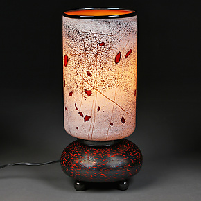 First Frost by Eric Bladholm (Art Glass Table Lamp)