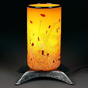 Staccato Sunburst by Eric Bladholm (Art Glass Table Lamp)