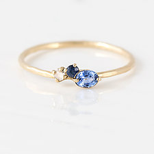Blue River Mini Cluster Ring by Melanie Casey (Gold & Stone Ring)