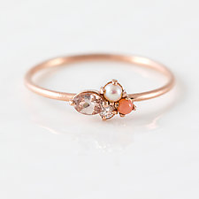 Blush Mini Cluster Ring by Melanie Casey (Gold & Stone Ring)