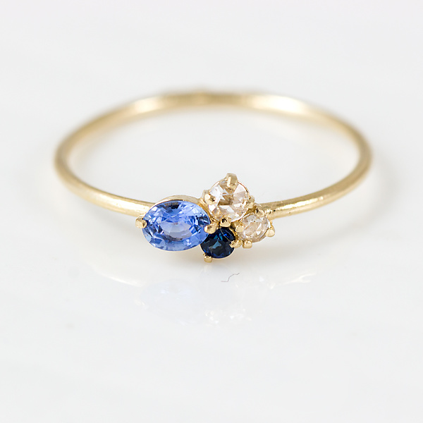 Blueberry Mini Cluster Ring