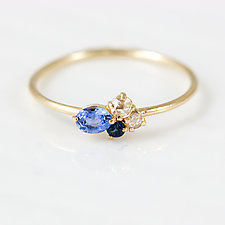 Blueberry Mini Cluster Ring by Melanie Casey (Gold & Stone Ring)
