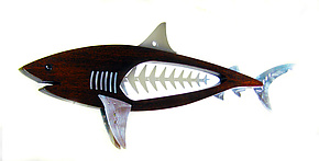 Tiger Shark by Mark Gottschalk (Wood & Metal Wall Sculpture)