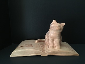 The Book Keeper by Marceil DeLacy (Wood Sculpture)