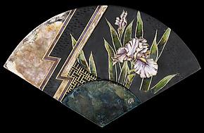 Iris Fan by Marcia Jestaedt (Ceramic Sculpture)