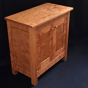 Figured Cherry Cabinet by David Klenk (Wood Cabinet)