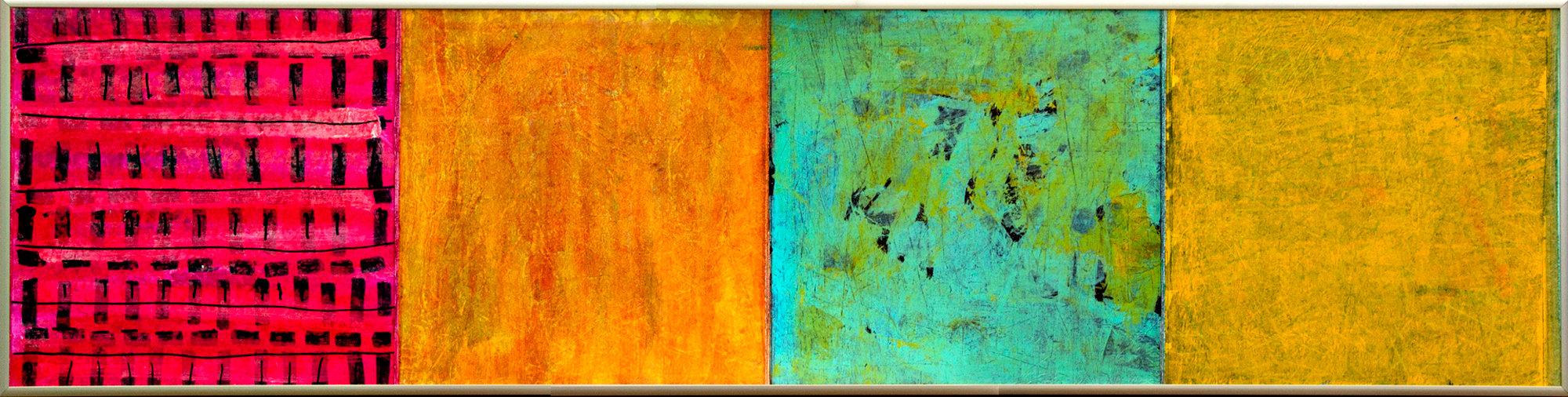 Medium Density Overlay Panel ~ Delicata by joan gold mixed media painting artful home