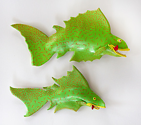 Pair-a-Fish by Byron Williamson (Ceramic Wall Sculpture)