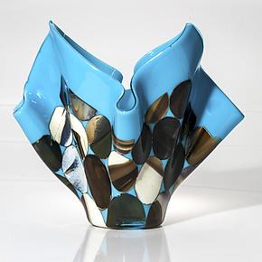 Redwood Forest by Varda Avnisan (Art Glass Vase)