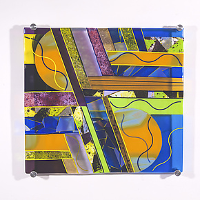 Composition # 1 by Varda Avnisan (Art Glass Wall Sculpture)