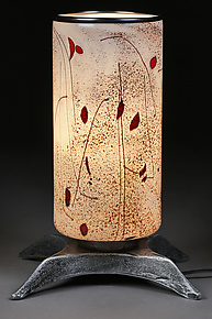 Zymovi Yabluka (Winter Apples) Large Lamp by Eric Bladholm (Art Glass Table Lamp)