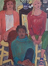 Students by Elisa Root (Oil Painting)