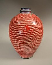 Vermilion by Paul  Schneider (Ceramic Vase)