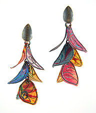 Fiesta Earrings by Carol Windsor (Silver & Paper Earrings)
