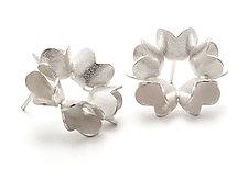 Mandala Studs by Claudia Fajardo (Silver Earrings)