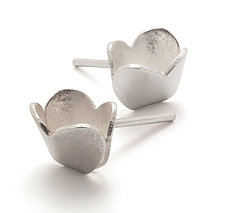 Heart Studs by Claudia Fajardo (Silver Earrings)