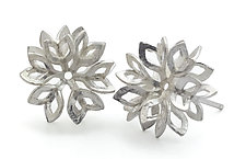 Leaves Studs by Claudia Fajardo (Silver Earrings)