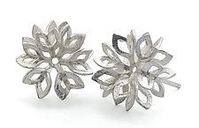Leaves Studs by Claudia Fajardo (Silver Earrings)