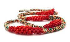 Degrade Long Necklace by Claudia Fajardo (Beaded Necklace)