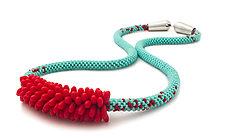 Rice Grain Necklace by Claudia Fajardo (Beaded Necklace)