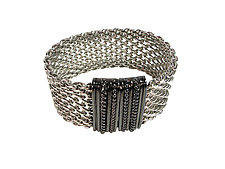 Open Weave Bright Mesh Bracelet by Erica Zap (Metal Bracelet)