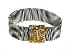Flat Mesh Bracelet with Magnetic Clasp by Erica Zap (Metal Bracelet)